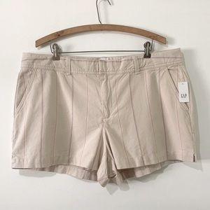 NWT Gap City Stripe Shorts Size 16